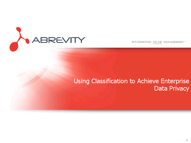 Using Classification to achieve Enterprise Data Privacy
