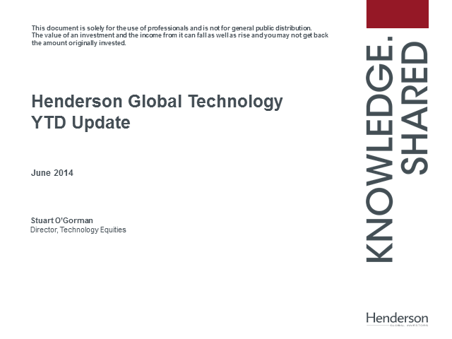 Technology: Tomorrow's world, today - Henderson Global Technology Update