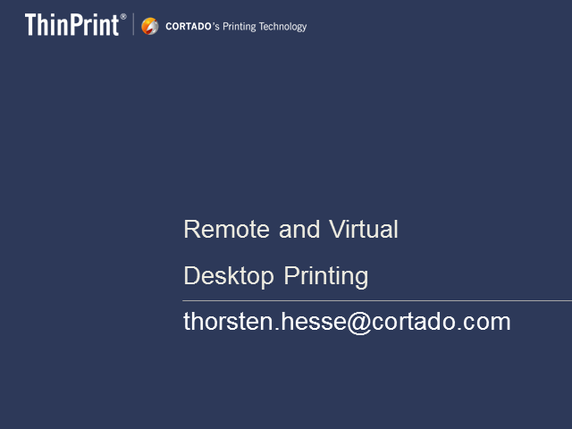 Virtual Desktop Printing – Challenges and Solution