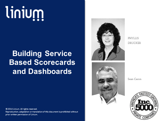 Building Service Based Scorecards and Dashboards