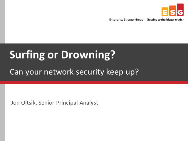 Drowning or Surfing? Can your network security keep up with the new wave of IT?