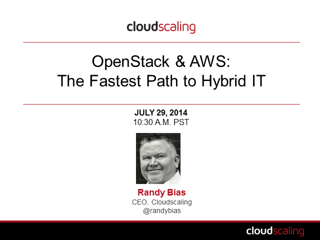OpenStack and AWS: The Fastest Path to Hybrid IT