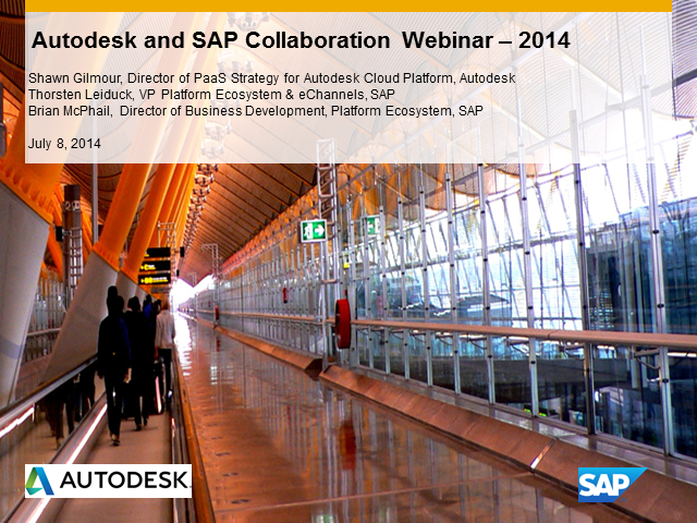 SAP and Autodesk Partner Webinar