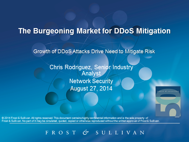 Uncover the Burgeoning Market for DDoS Mitigation