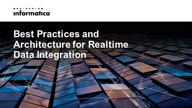 Best Practices Architecting for Realtime Data Integration