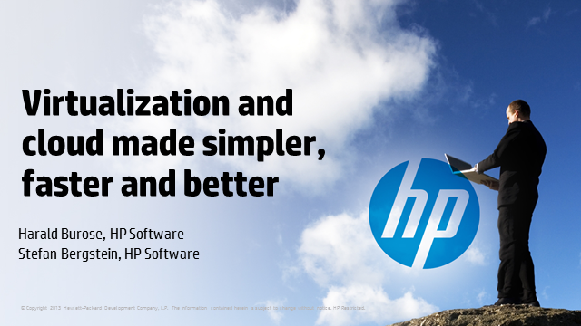 Virtualization and cloud made simpler, faster and better