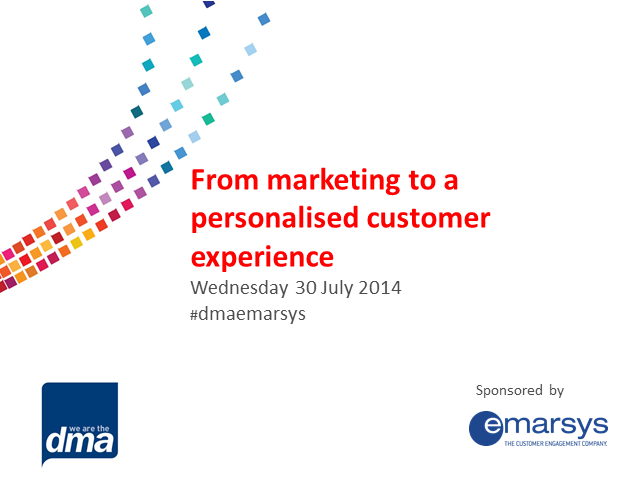 From marketing to a personalised customer experience