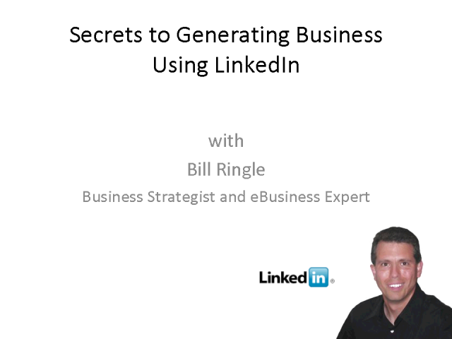 Secrets to generating business Using Linkedin