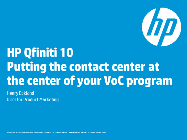 Putting the Contact Center at the Center of Your VoC Program