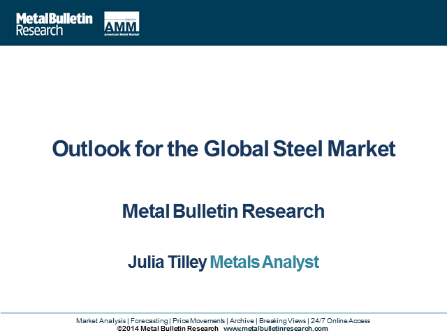 Outlook for the Global Steel Market 2014