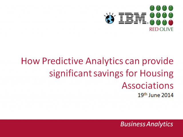 Predictive Analytics for Housing Associations