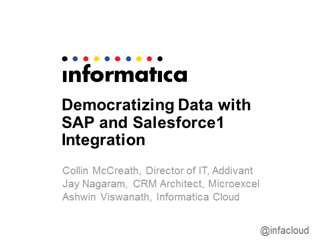 Democratizing Data with SAP and Salesforce1 Integration