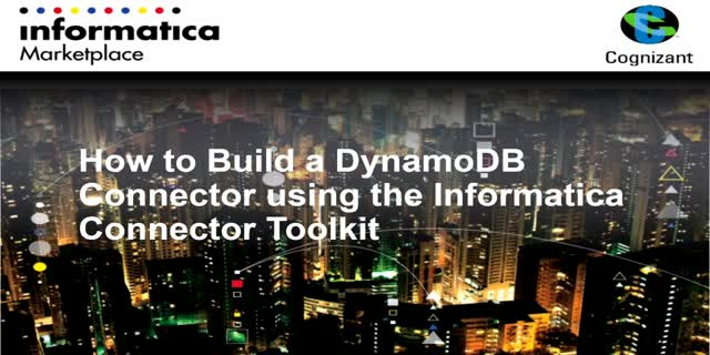 How to build a DynamoDB Connector using the Informatica Connector Toolkit