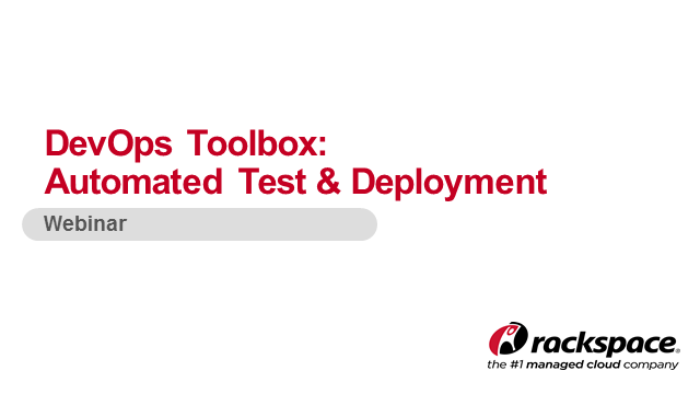 DevOps Toolbox: Automated Test and Deployment