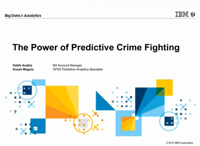The Power of Predictive Crime Fighting