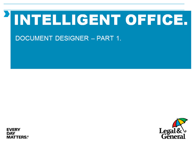 Intelligent office - User guide - Document designer - Part 1