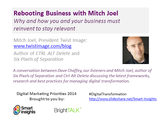 Rebooting Business with Mitch Joel