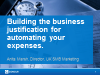 Building the business justification for expense automation: tips and tricks