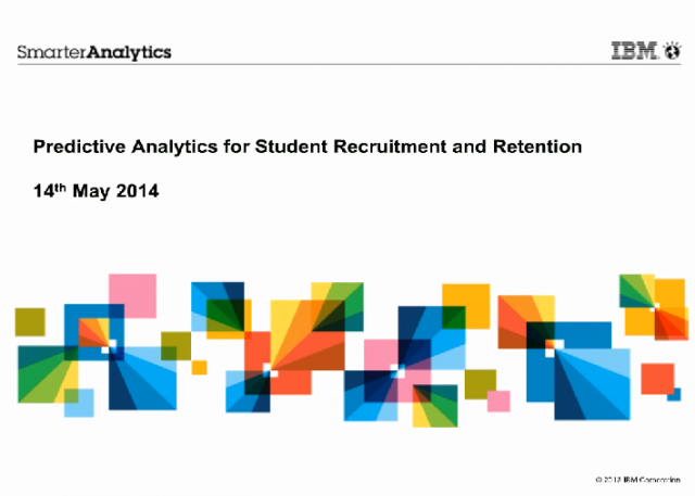 Predictive Analytics for Student Recruitment & Retention