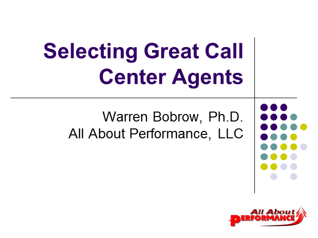 Selecting Great Call Center Agents