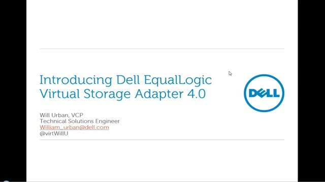 Introducing Dell EqualLogic Virtual Storage Manager 4.0