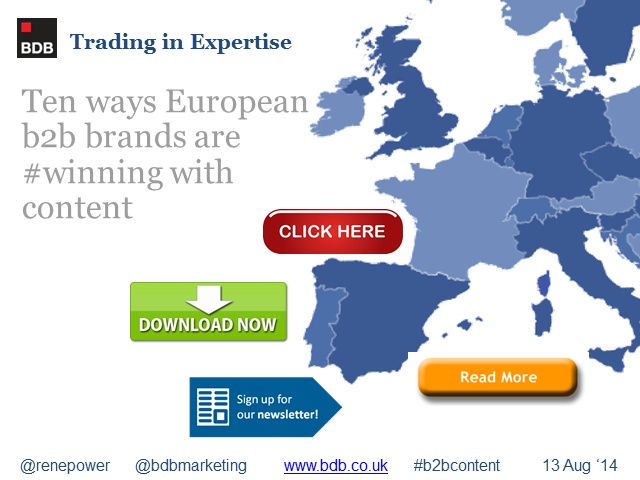 Ten Ways Specialist European b2b Companies Are Winning With Content