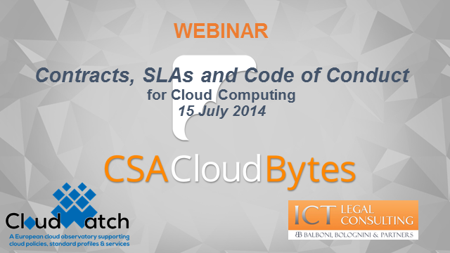 Legal Issues for Cloud Computing