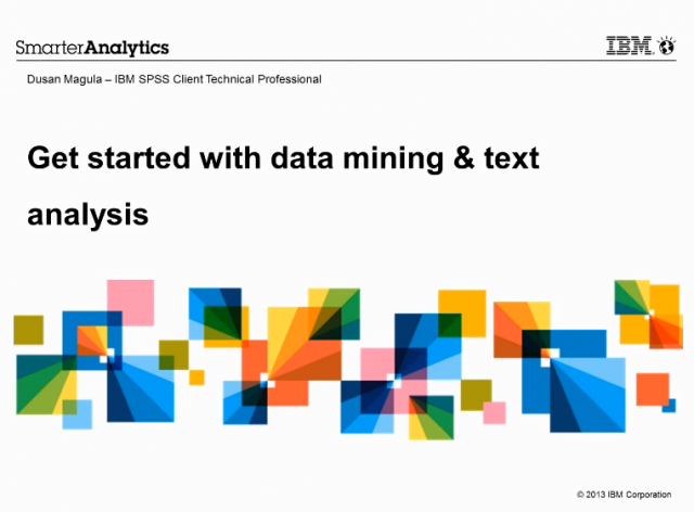 Get started with data mining & text analysis
