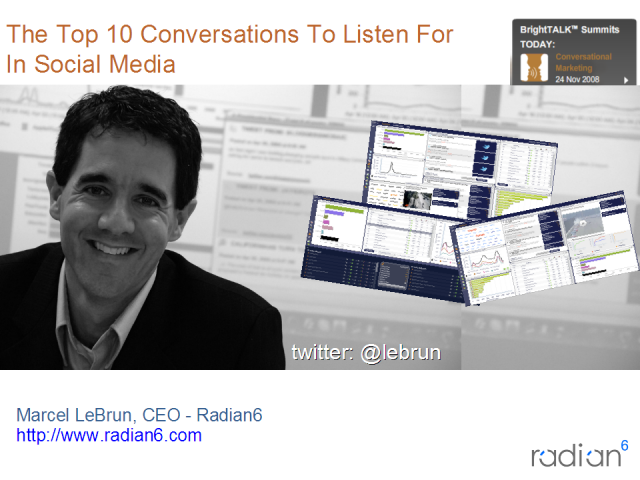 The Top 10 Conversations To Listen For In Social Media