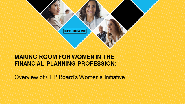 Making More Room for Women in the Financial Planning Profession