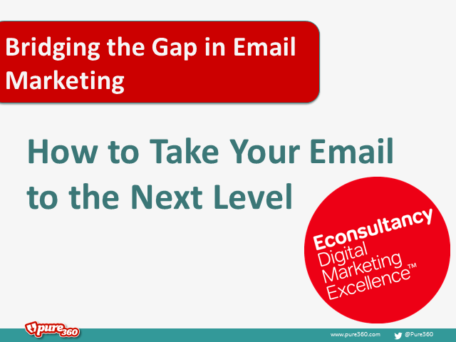 Bridging the gap in email marketing