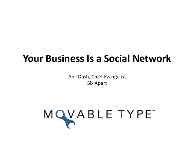 Your Business Is a Social Network