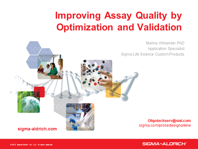 PCR Webinar Series: Improving Assay Quality by Optimization and Validation