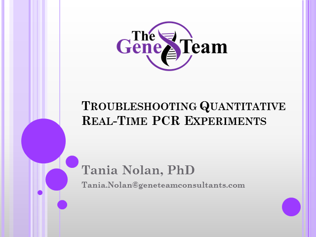 PCR Webinar Series: Troubleshooting