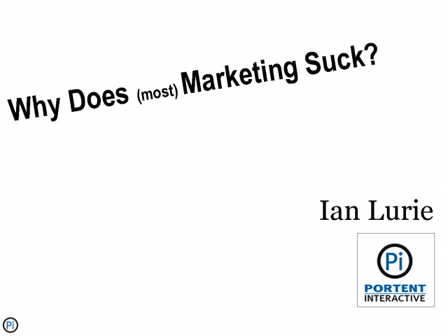 Why does most marketing suck?