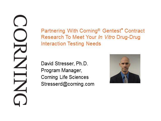 Partnering With Corning® Gentest℠ Contract Research For In Vitro ADME Testing