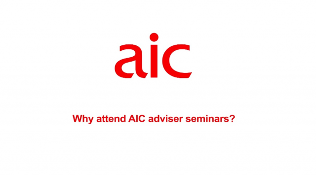 Why attend AIC adviser seminars?