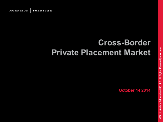 The Cross-Border Private Placement Market