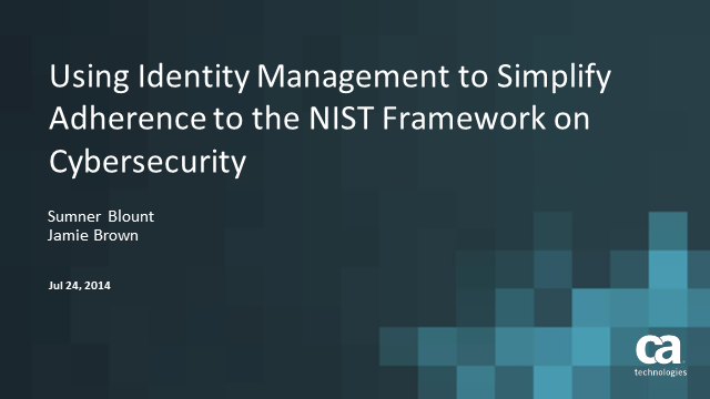 Leveraging the NIST Framework to Improve Cybersecurity