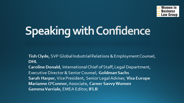 IFLR Women in Business Law Group: Speaking with Confidence
