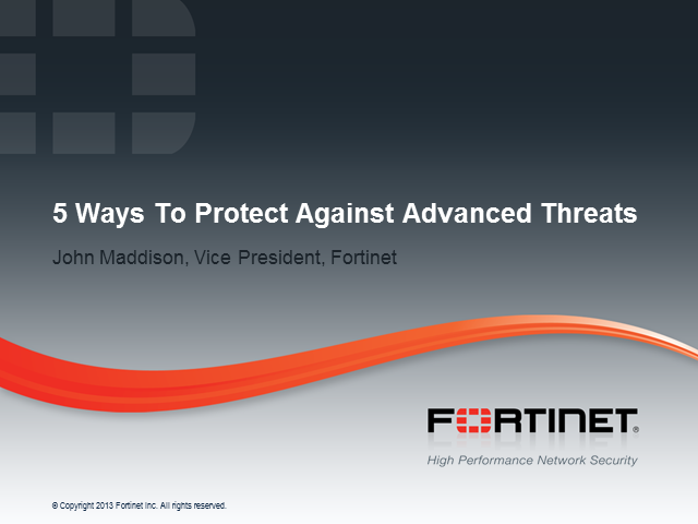 Top 5 Ways to Improve Protection from Advanced Threats