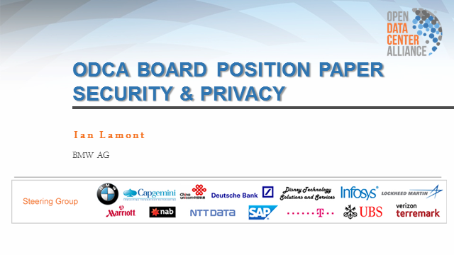 Enterprise IT Position on Cloud Security & Privacy