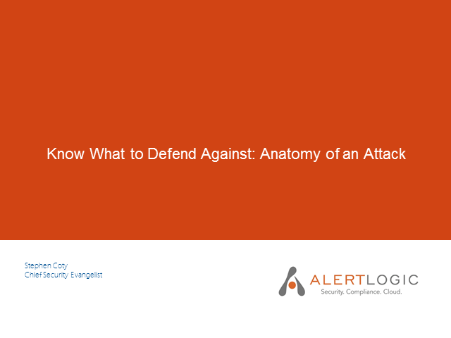 Know What to Defend Against: Anatomy of a Network Attack