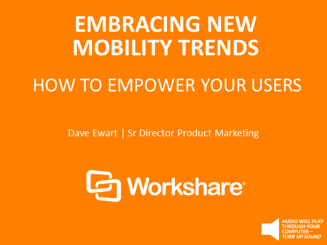 Embracing new trends in mobility