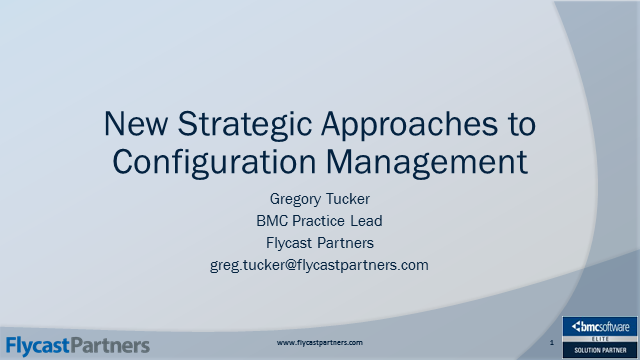 New Strategic Approaches to Configuration Management