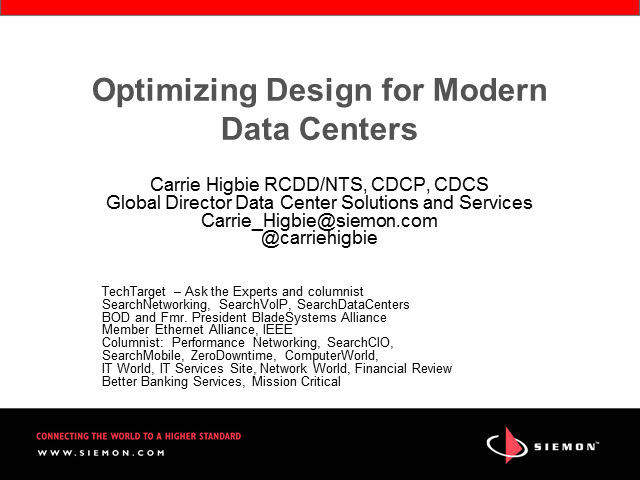 Optimizing Design for Modern Data Centers