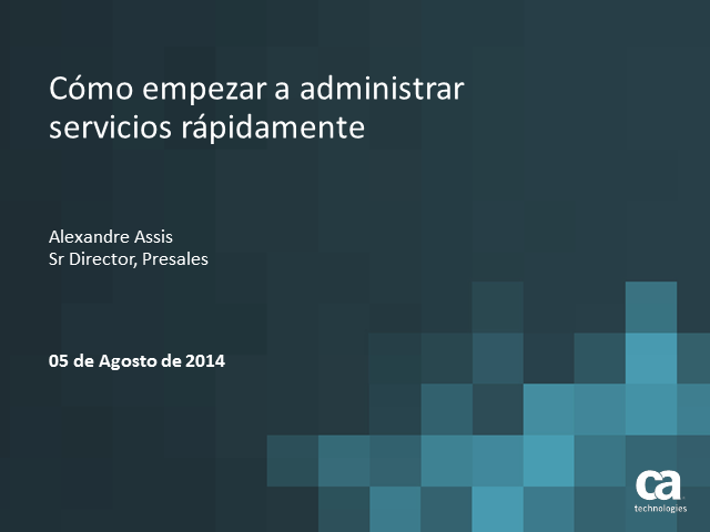 Lanzamiento de CA Cloud Service Management