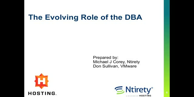 The Evolving Role of the DBA