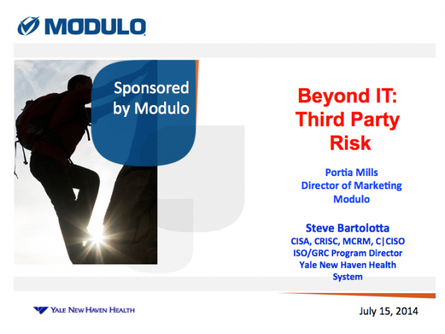 Beyond IT: Third Party Risk