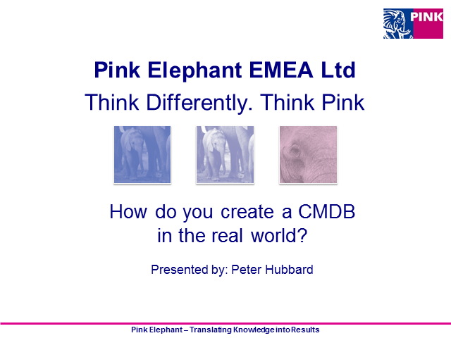 How do you create a CMDB in the real world?